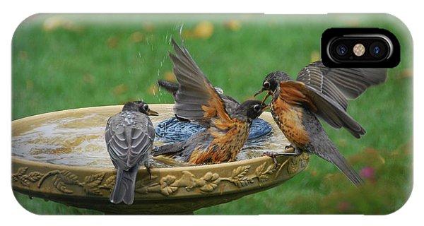 Robins Bathing IPhone Case