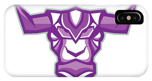 Robot Yak Bull Head Front IPhone Case