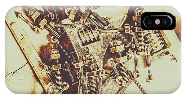 Technology iPhone Case - Robotic Repairs by Jorgo Photography - Wall Art Gallery