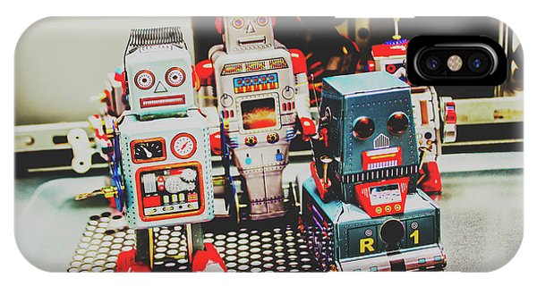 1950s iPhone Case - Robots Of Retro Cool by Jorgo Photography - Wall Art Gallery