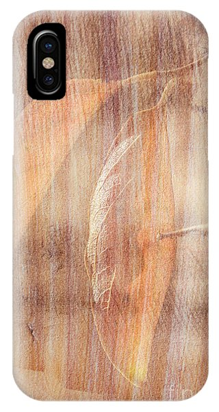 IPhone Case featuring the photograph Rock And Leaf Composite by Elaine Teague