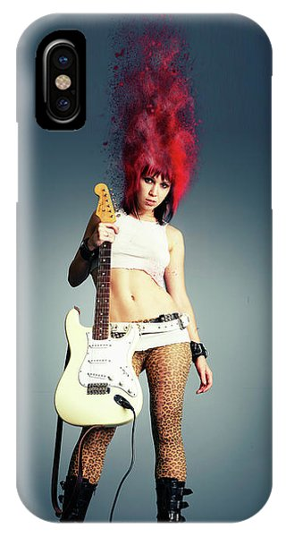 Rock And Roll Art iPhone Case - Rock Chick by Smart Aviation