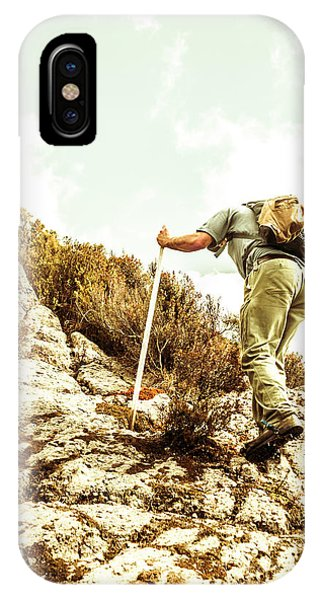 Hiking Path iPhone Case - Rock Climbing Mountaineer by Jorgo Photography - Wall Art Gallery