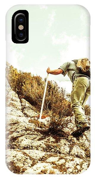 Mountainous iPhone Case - Rock Climbing Mountaineer by Jorgo Photography - Wall Art Gallery