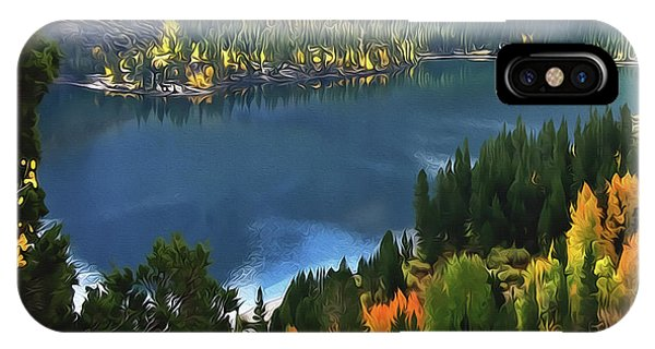 Rock Creek Lake In Fall IPhone Case
