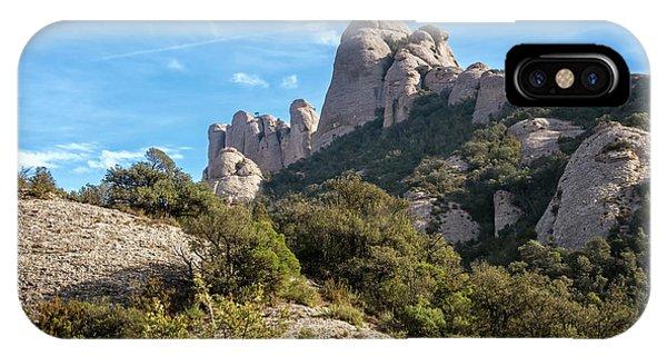 Rocky Mountain iPhone Case - Rock Formations Montserrat Spain II by Joan Carroll