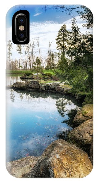 Pond iPhone Case - Rock Lined Pond by Tom Mc Nemar