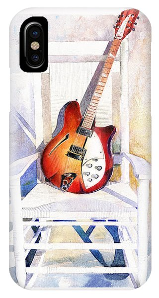 Guitar iPhone Case - Rock On by Andrew King