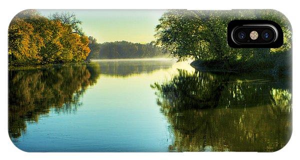 Rock River Autumn Morning IPhone Case