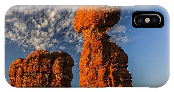 Rock, Sun, Cloud, And Sky IPhone Case