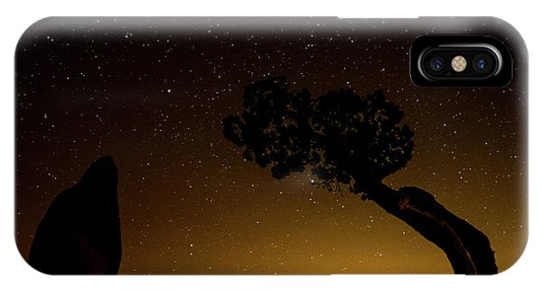 IPhone Case featuring the photograph Rock, Tree, Friends by T Brian Jones