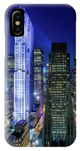 Rockefeller At Night IPhone Case