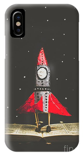 Departure iPhone Case - Rockets And Cartoon Puzzle Star Dust by Jorgo Photography - Wall Art Gallery