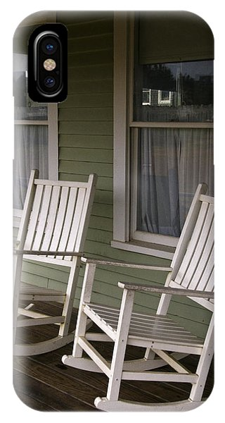 Porches iPhone Case - Rocking Chairs On The Porch by Todd Gipstein