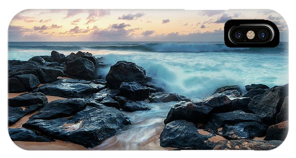 Oahu iPhone Case - Rockpile Beach Sunset by Mike Dawson