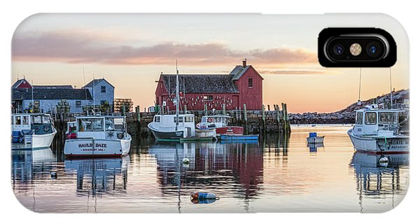 New England Barn iPhone Case - Rockport Harbor - #1 by Stephen Stookey