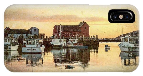 New England Barn iPhone Case - Rockport Harbor - #4 by Stephen Stookey