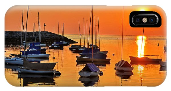 Rockport Ma Boats Rockport Harbor IPhone Case