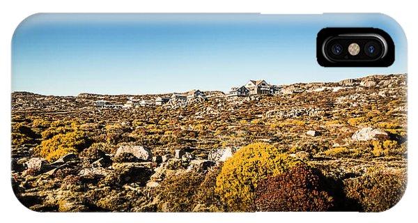 Rocky Mountain iPhone Case - Rocky Alpine Village by Jorgo Photography - Wall Art Gallery