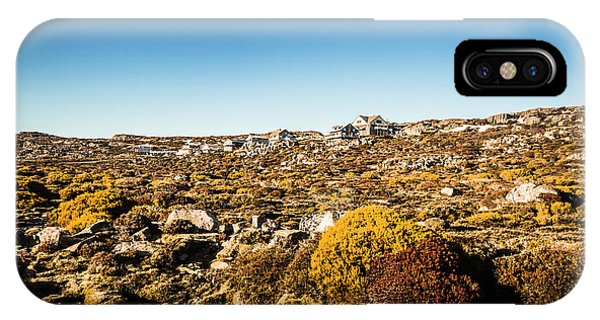 Exterior iPhone Case - Rocky Alpine Village by Jorgo Photography - Wall Art Gallery