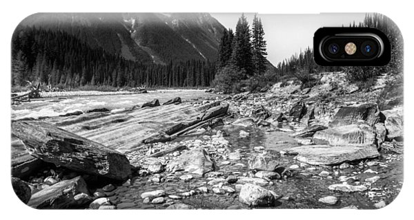 Rocky Banks Of Kootenay River IPhone Case