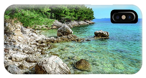 Rocky Beach On The Dalmatian Coast, Dalmatia, Croatia IPhone Case