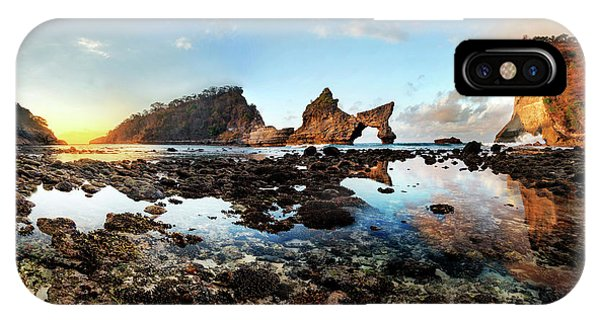 Rocky Beach Sunrise, Bali IPhone Case