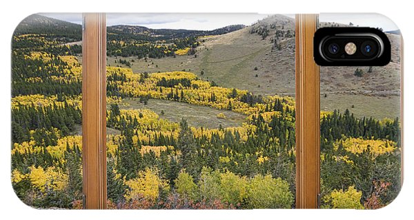 Rocky Mountain Autumn Picture Window View IPhone Case