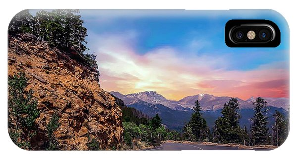 Rocky Mountain High Road IPhone Case