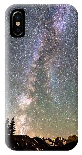 Indian Peaks Wilderness iPhone Case - Rocky Mountain Milky Way And Falling Star by James BO Insogna
