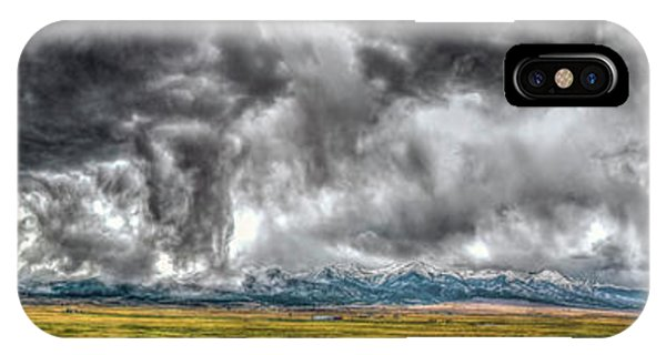 Rocky Mountain Panorama Hdr IPhone Case