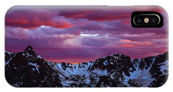 Rocky Mountain Sunset IPhone Case