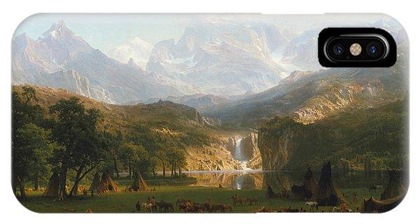 Rocky Mountain iPhone Case - Rocky Mountains by Albert Bierstadt