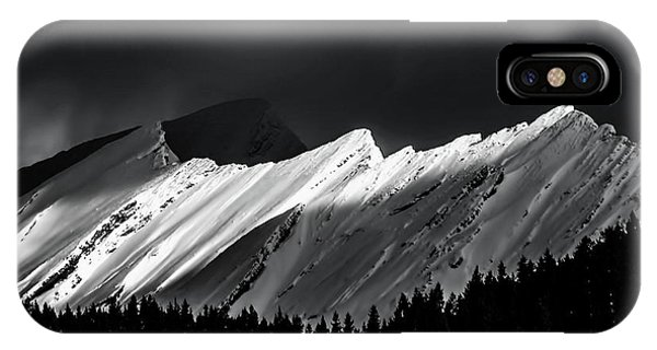 Rocky Mountains In Moonlight IPhone Case