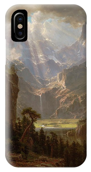 iPhone Case - Rocky Mountains, Lander's Peak by Albert Bierstadt