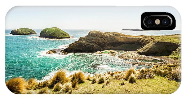Stone Wall iPhone Case - Rocky Ocean Capes by Jorgo Photography - Wall Art Gallery