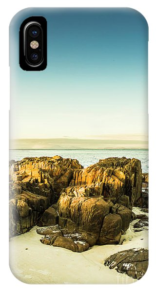 Stone Wall iPhone Case - Rocky Oceanscape by Jorgo Photography - Wall Art Gallery