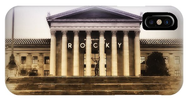 iPhone Case - Rocky On The Art Museum Steps by Bill Cannon