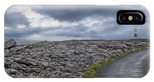 Rocky Road To The Lighthouse IPhone Case
