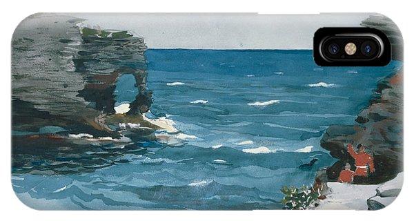 Homer iPhone Case - Rocky Shore, Bermuda by Winslow Homer