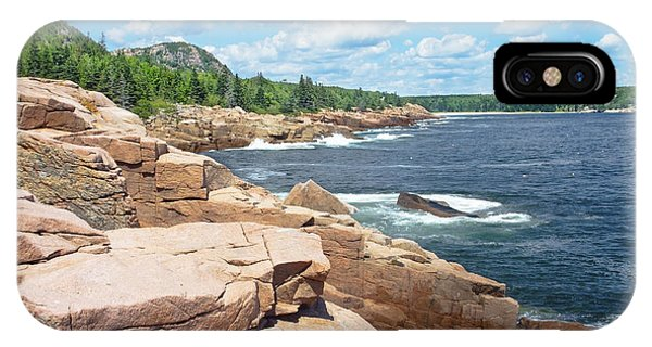Rocky Summer Seascape Acadia National Park Photograph IPhone Case