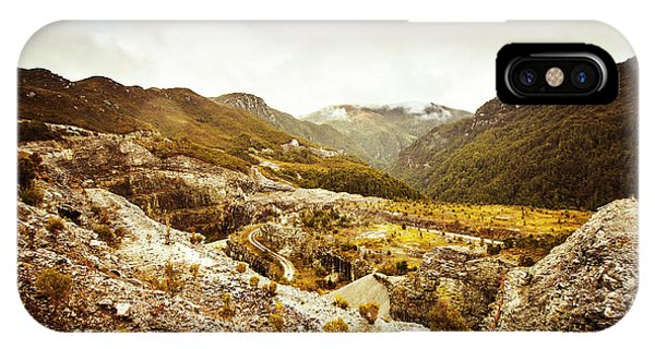 No People iPhone Case - Rocky Valley Mountains by Jorgo Photography - Wall Art Gallery