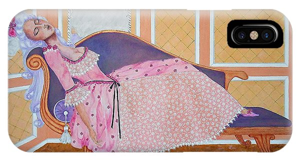 Rococo Coquette -- Mme. Pompadour, #2 In Famous Flirts Series IPhone Case