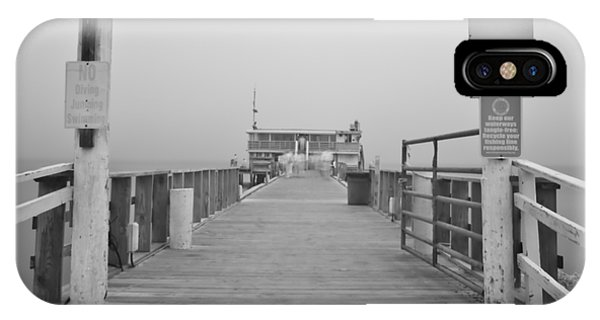 Rod And Reel Pier In Fog In Infrared 53 IPhone Case