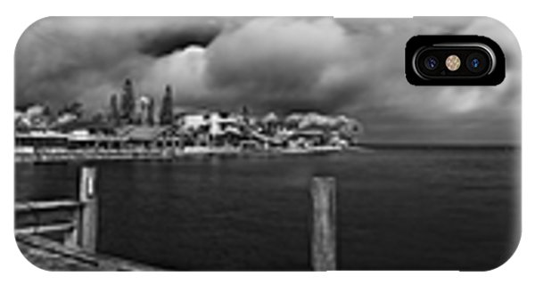 Rod And Reel Pier In Infrared IPhone Case