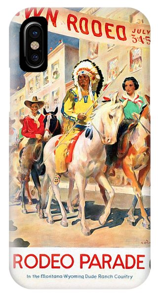 Rodeo Parade - Vintage Poster Restored IPhone Case