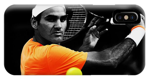 Venus Williams iPhone Case - Roger Federer 4c by Brian Reaves