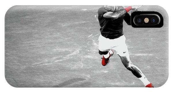 Venus Williams iPhone Case - Roger Federer Powerful Return by Brian Reaves