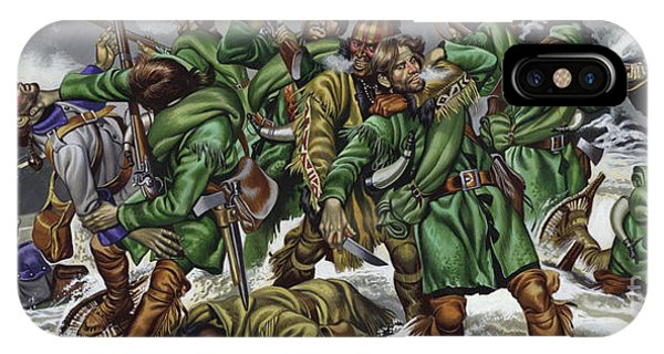 Struggle iPhone Case - Rogers Rangers Fought A Hand-to-hand Battle In The Snow With The French And Indians by Ron Embleton