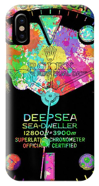 Oyster Bar iPhone Case - Rolex Watercolor Iv by Ricky Barnard
